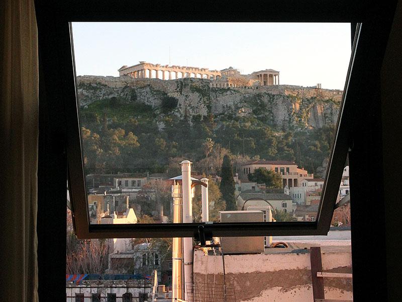 plaka hotel aussicht akropolis