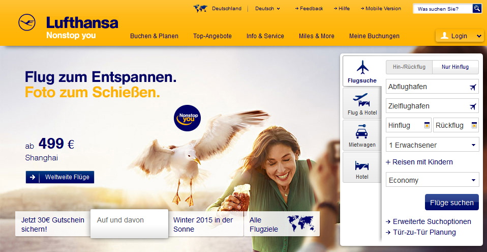 Airline-Check: Lufthansa, Condor, Allitalia, Sunexpress, Tuifly