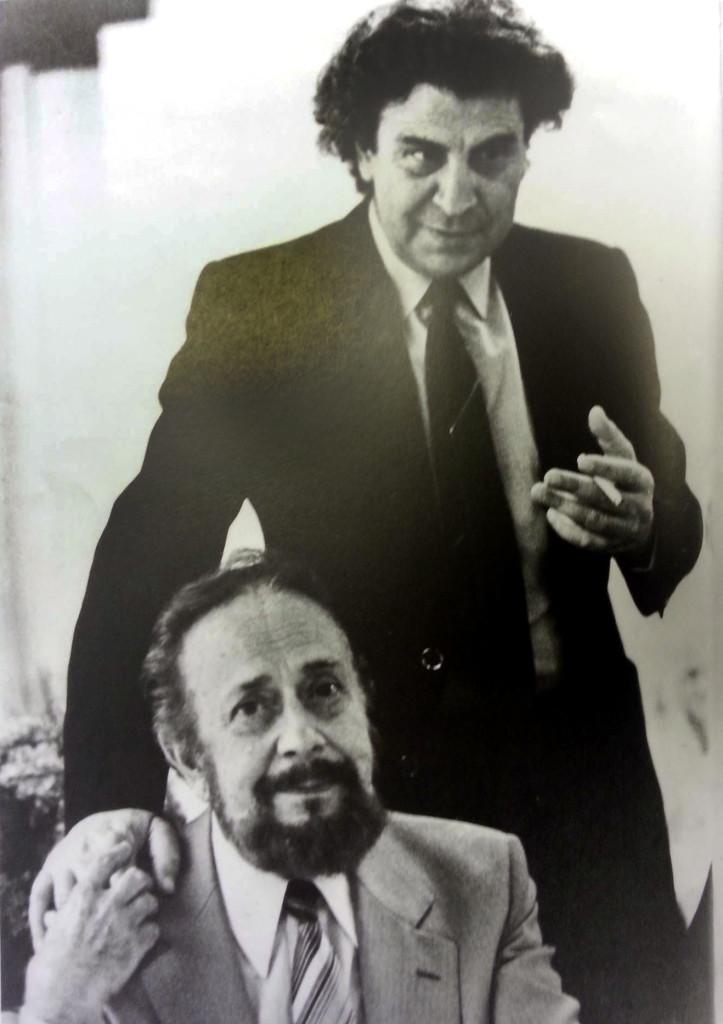 Dresden 1984: Mikis Theodorakis und Jannis Ritsos.