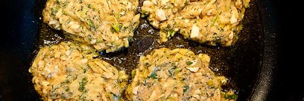 Puffer in Olivenöl braten.