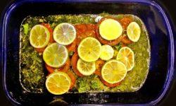 Glosses sto fourno, Griechisches Fischfilet aus dem Ofen titel neu