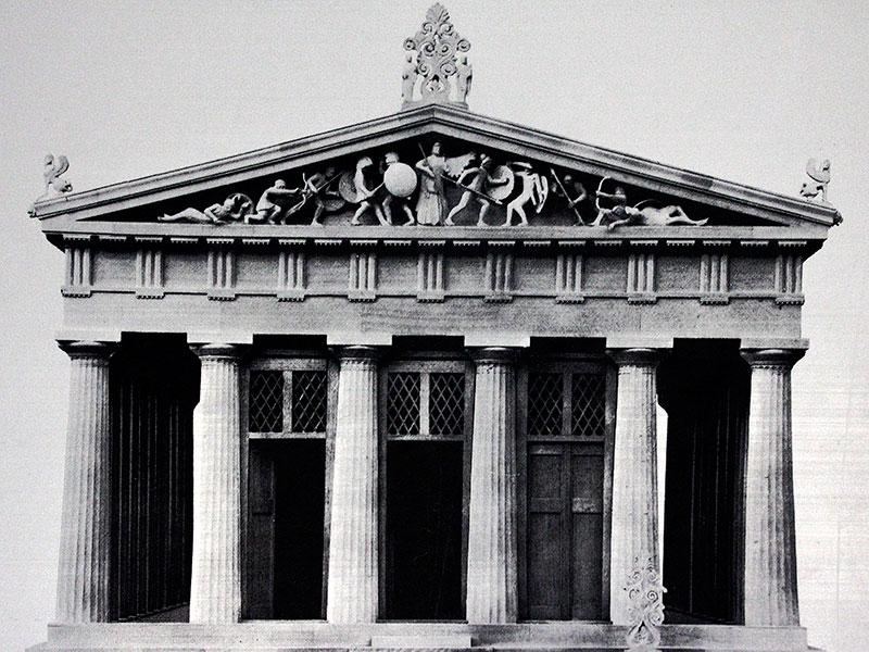 Modell des Tempeleingangs.