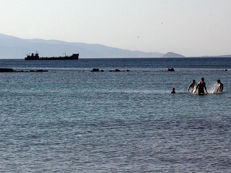 Die ersten mutigen Badegäste sind bereits im März im Meer!