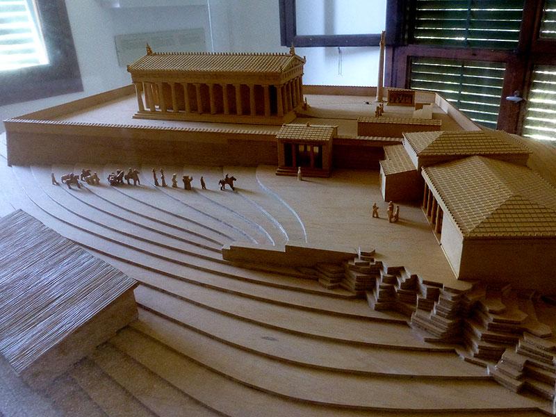 Modell des Tempels von Ägina.