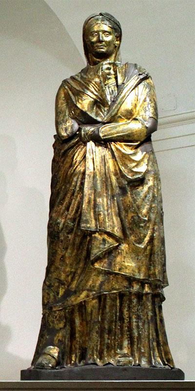 Vielleicht sehen wir hier Germanicus' Mutter Livia Drusilla.