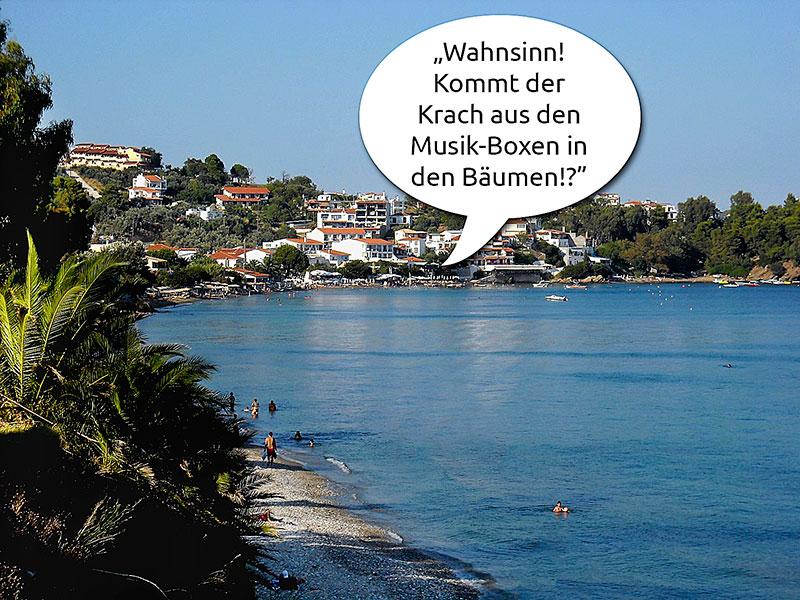 Reise-Anekdoten: Als die Insel Skiathos im undefinierbaren Lärm versank