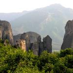 Das Kloster Rousánou wird heute von Nonnen bewohnt. Es wurde im Jahre 1388 gegründet. Meteora Thessalien Griechenland