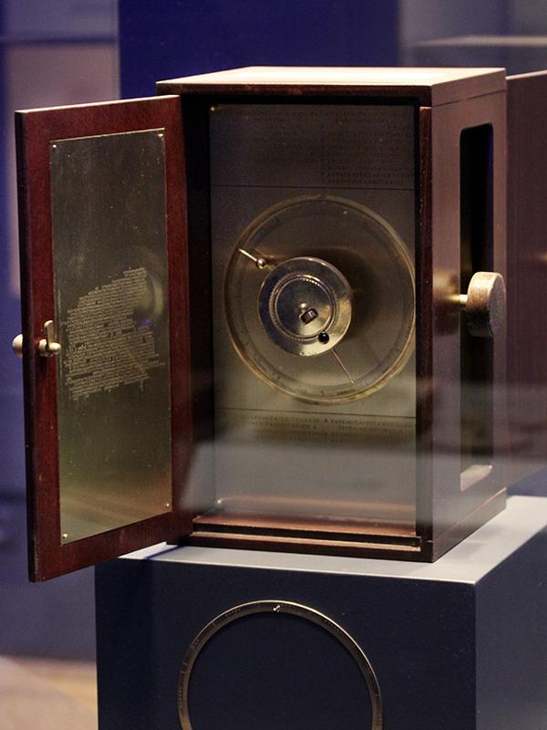 Modell seiner Rekonstruktion des Mechanismus von Antikythera.