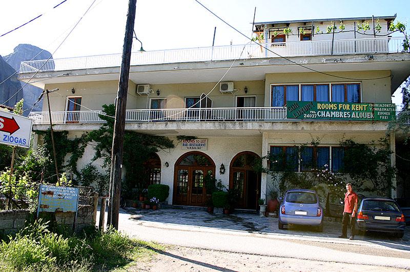 Bei Ziogas Rooms in Kastraki waren wir gut untergebracht.