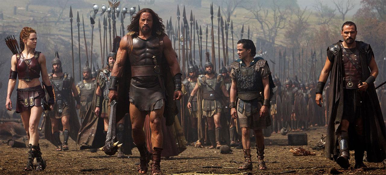 Herkules und seine kleine Gruppe treuer Verbündeter lassen sich sich von den Herrschern der griechischen Stadtstaaten anheuern, um für sie in den Krieg zu ziehen. Quelle: Paramount