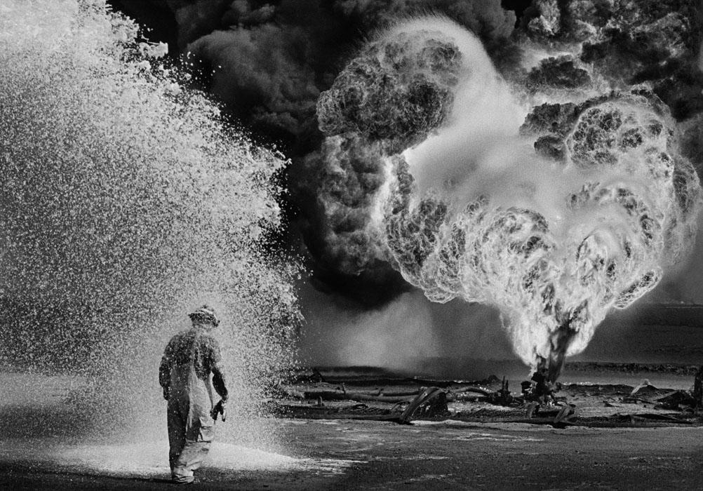 Feuerwehrmänner, Burhan Ölfelder, Kuwait, 1991
