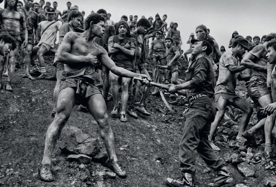 Minenarbeiter, Serra Pelade, Brasilien, 1986