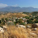 Listaros Kreta Bergblick Psiloritis Insel Griechenland Kreta