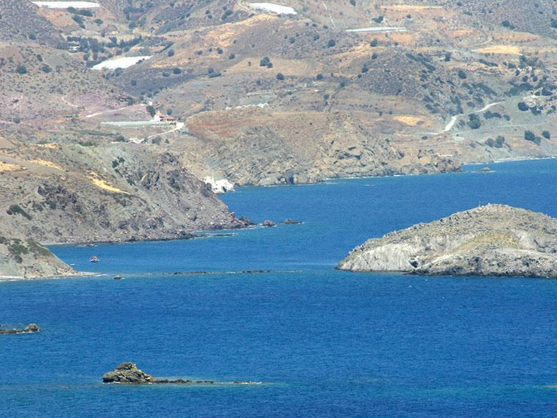 Östlich von Kali Limenes liegen die Ruinen der griechisch-römischen Stadt Lasaia.