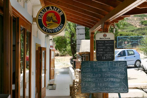 Münchner Bier in Kreta.