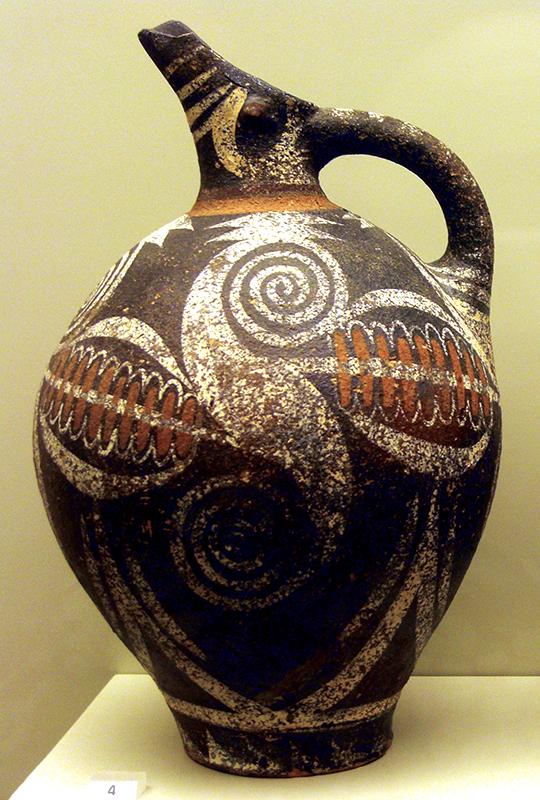 Schnabelkanne im Kamares-Stil. Altpalastzeit (2100–1700 v. Chr.)