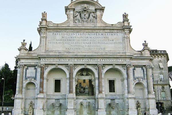Der barocke Brunnen Fontana Paola.