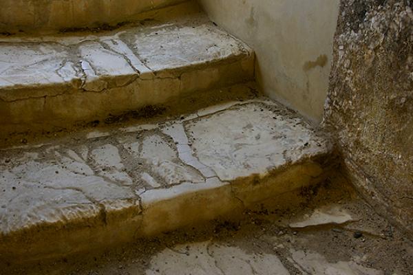 Treppe zum Lustralbad, für rituelle Reinigungen.