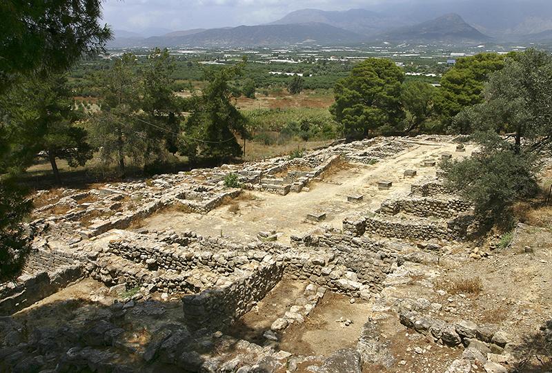 Große, ehemals überdachte Agora mit kleinen Läden