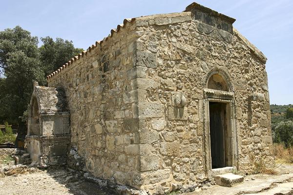 Die Kapelle Agios Georgios Galatas aus dem 14. Jhd.