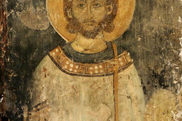 Pantokrator-Fresko (Weltenherrscher) aus dem 14. Jhd.