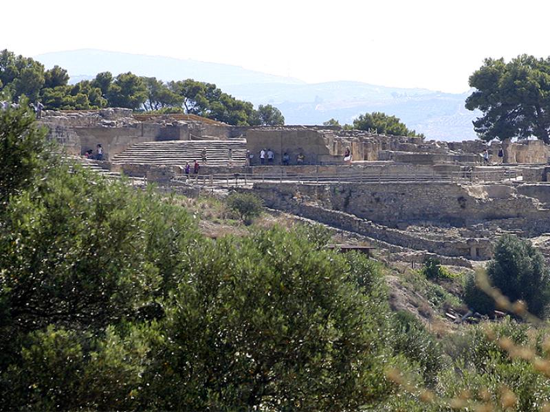 Aussenansich vom Palastgelände von Phaistos.