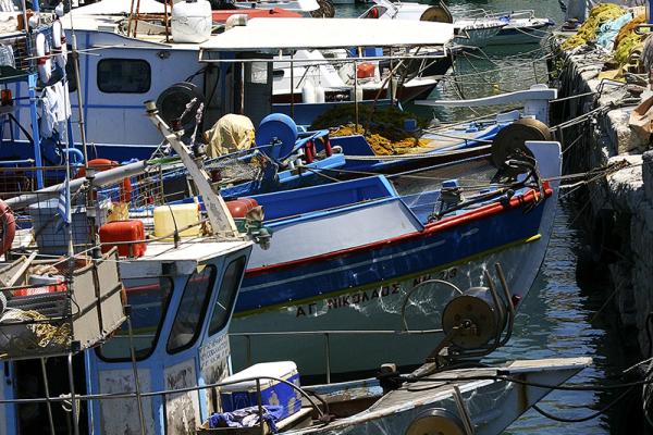 Fischerboote in Heraklion.