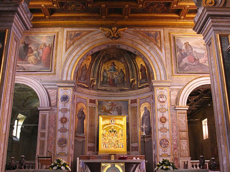 San Bartolomeo all'Isola:  Der Innenraum wurde im Stil des Barock und des Historismus umgestaltet.