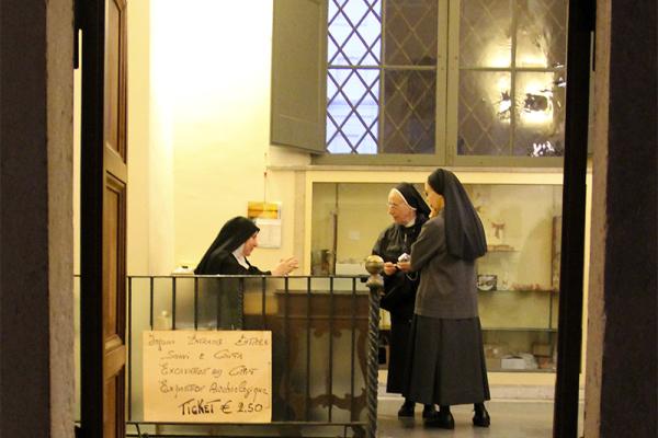 Nonnen in Santa Cecilia in Trastevere.