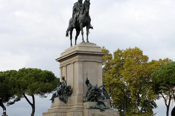Die Reiterstatue Garibaldis.