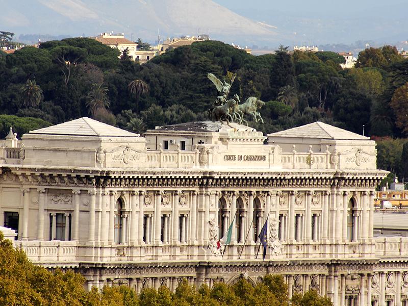 Der römische Justizpalast, das höchste Gericht Italiens.