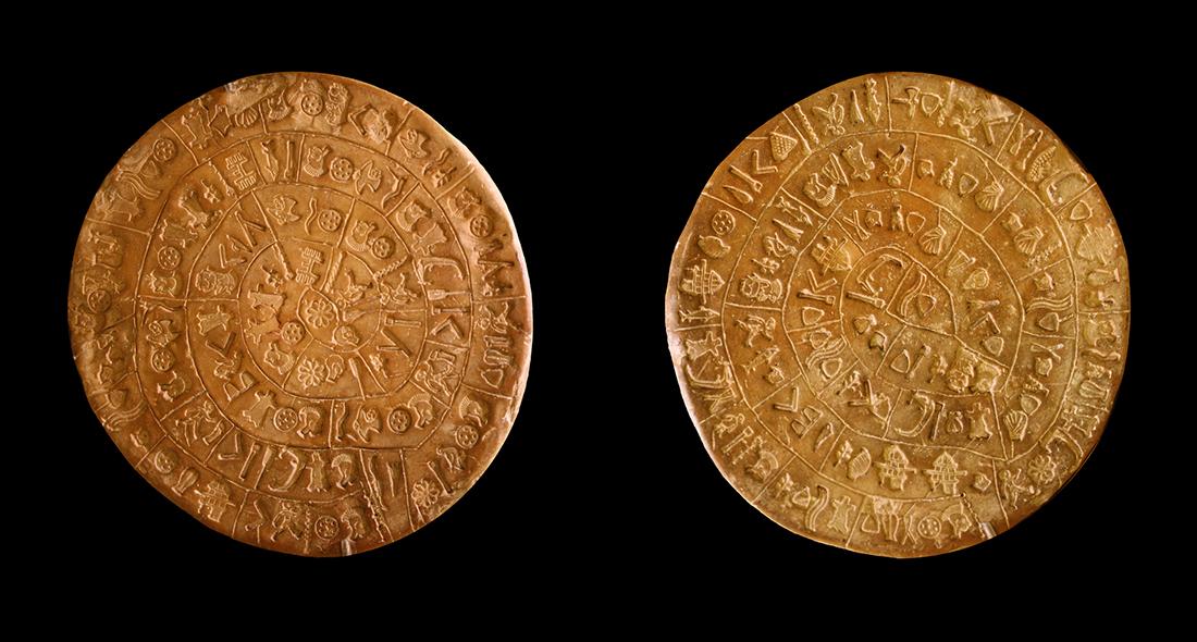 Der Diskos von Phaistos ist eines der bedeutendsten Fundstücke aus der Bronzezeit. Foto: TEI