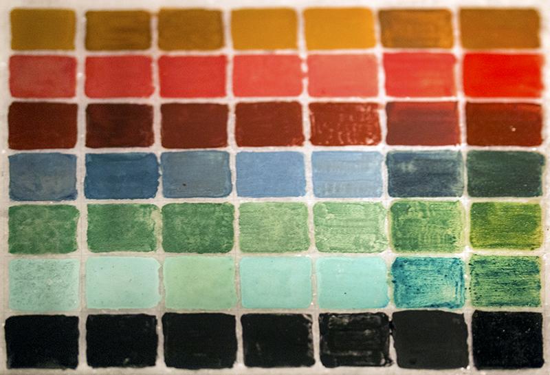 Die Farbpalette der Kykladenkultur.