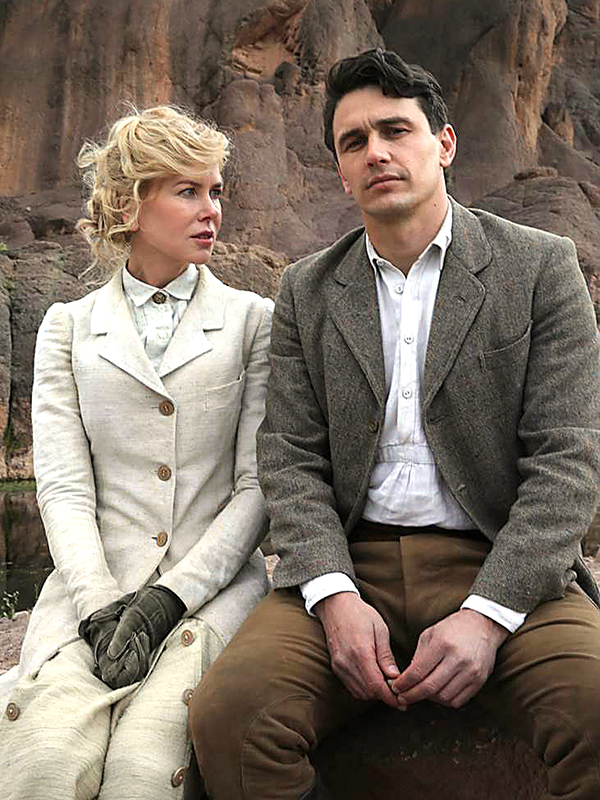 "Tragisch verlaufende Liebe im historischen Teheran: Nicole Kidman als  Gertrude Bell und James Franco als britischer Botschaftssekretär in  ""Queen of the Desert"". Foto: qotd film investment ltd"