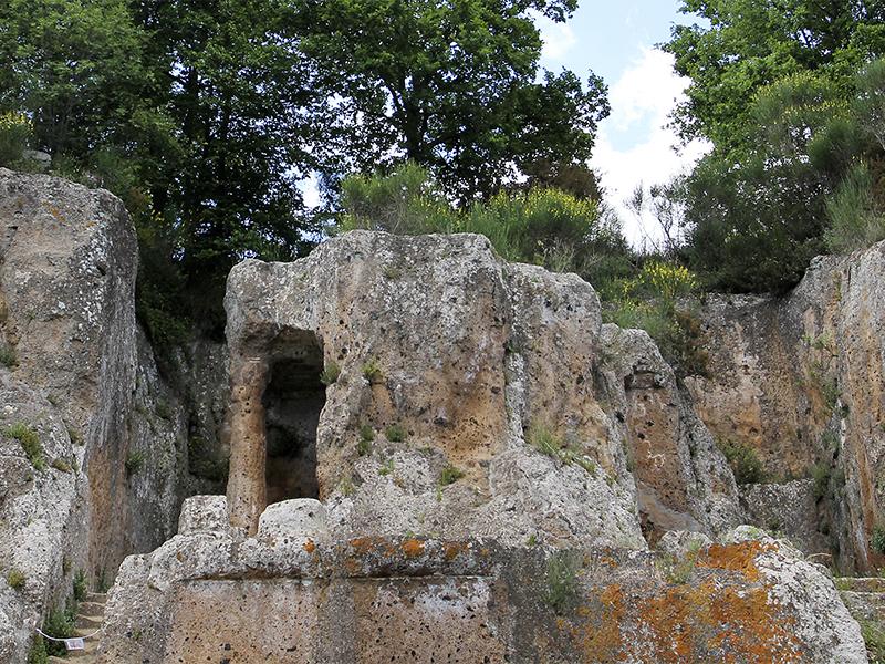 Die Tomba Ildebranda ist das interessanteste und wichtigste Grab der Nekropole.