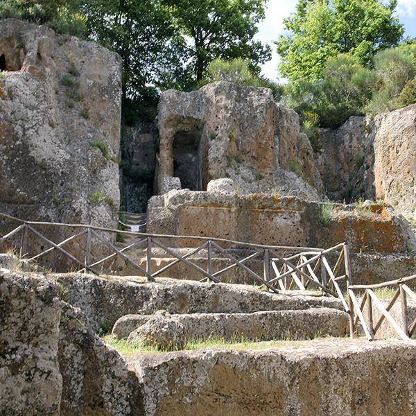 Das Tempelgrab Tomba Ildebranda in Sovana.