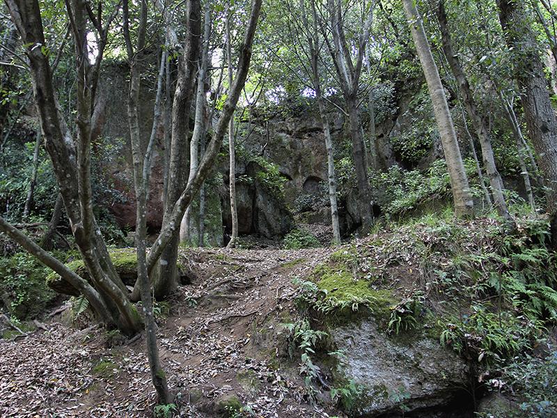 Mystische Stimmung in der riesigen Nekropole von Sovana.