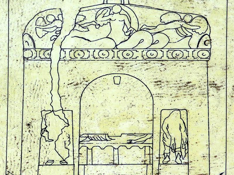 Zeichnung der Tomba Sirena.