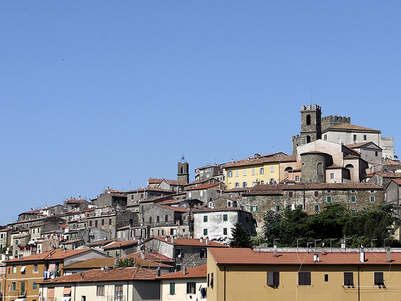Manciano wird von einer Festung aus dem Mittelalter überragt.