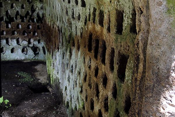 Wieder entdecken wir die mysteriösen Columbarien.