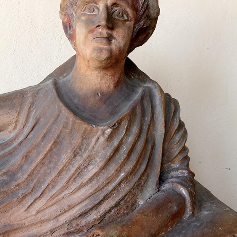 Etruskischer Sakrophag aus Tarquinia.