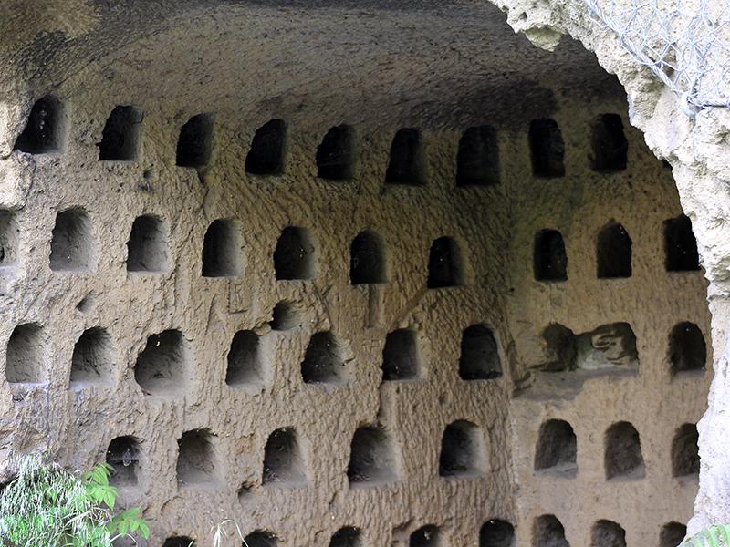 Ein sogenanntes Columbarium (Taubenschlag) - seine Verwendung ist ungeklärt.