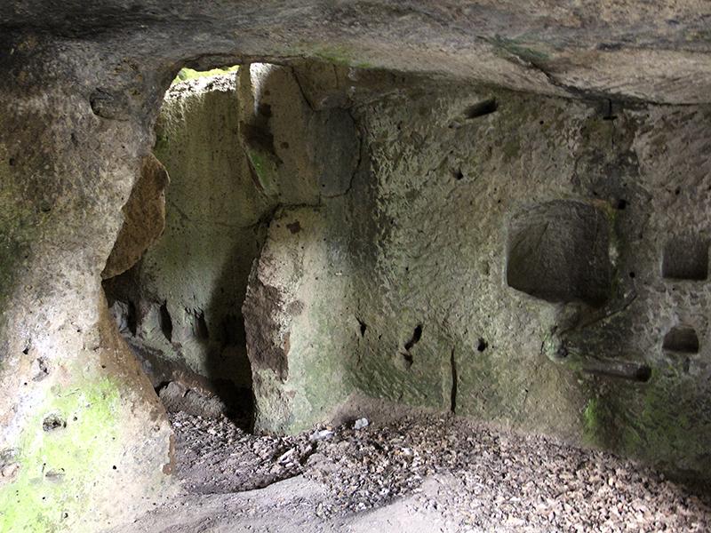 Einer der Höhlenwohnungen von San Rocco.