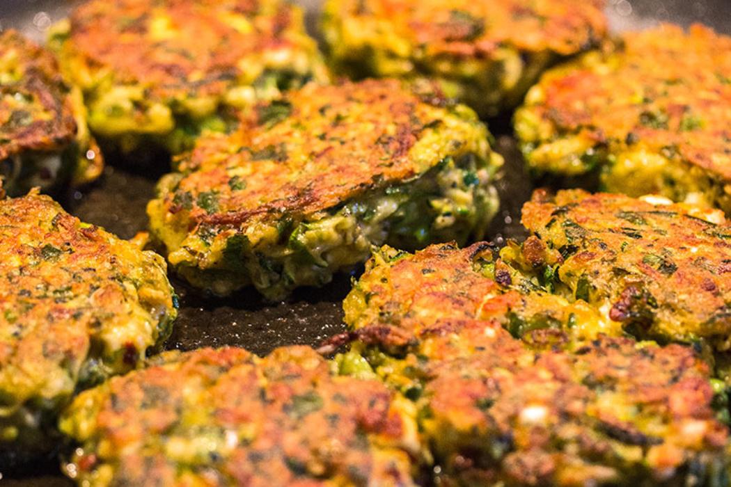 Feta und Minze machen den mediterranen Geschmack.