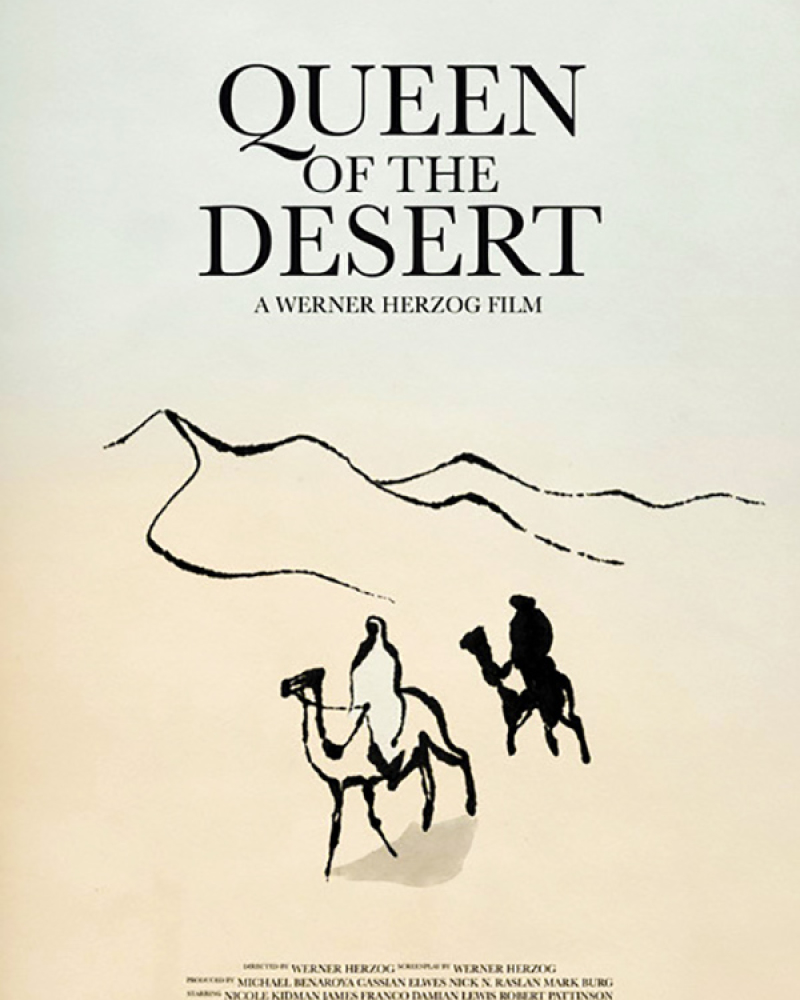 Filmposter von Queen of the desert.