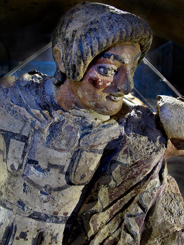 Tempelakroter des mythischen Orestes, aus Cannicella bei Orvieto, 500 v. Chr.