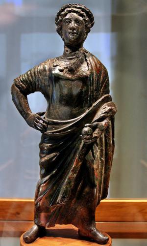 Bronzestatuette eines etruskischen Königs, 4. Jhd. v. Chr., aus Florenz.