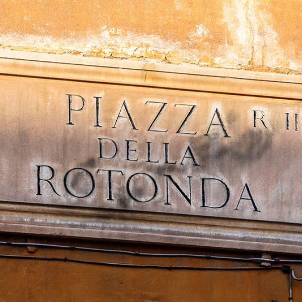 Wir erreichen die Piazza della Rotonda.
