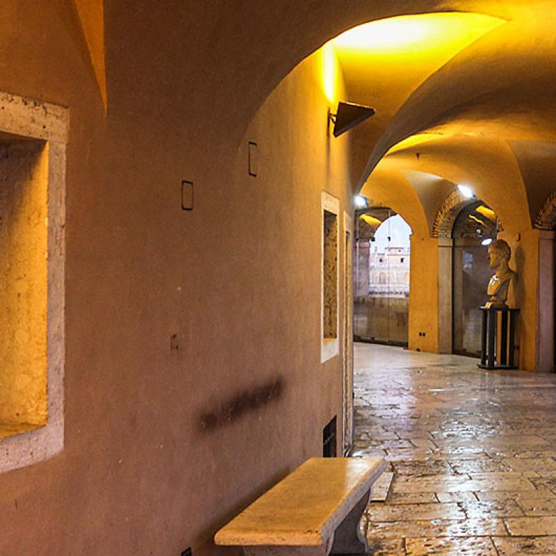 Im Museum des Castel Sant'Angelo.