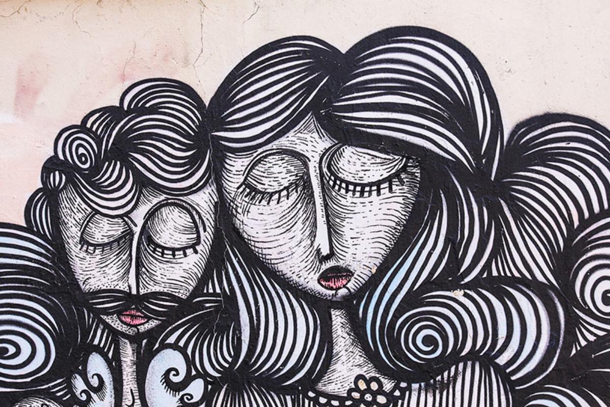 Die hervorragende Qualität der Streetart in der Altstadt ist fast ein bisschen zu Schade für eine Hauswand...
